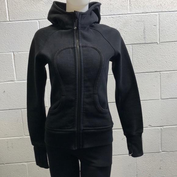 lululemon athletica Jackets & Blazers - Lululemon black scuba hoodie, sz 4, 60641